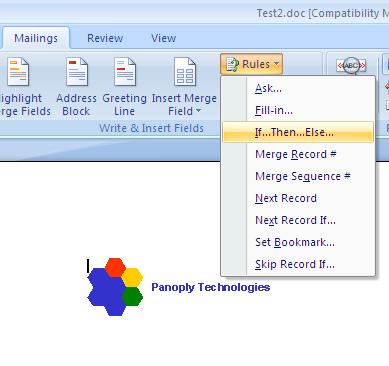 editing word templates