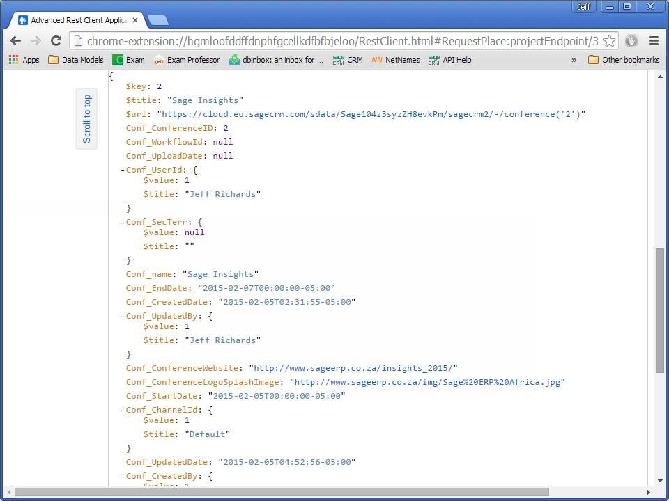 Sage CRM's RESTful API: SData (Part 9 of 10) - Hints, Tips