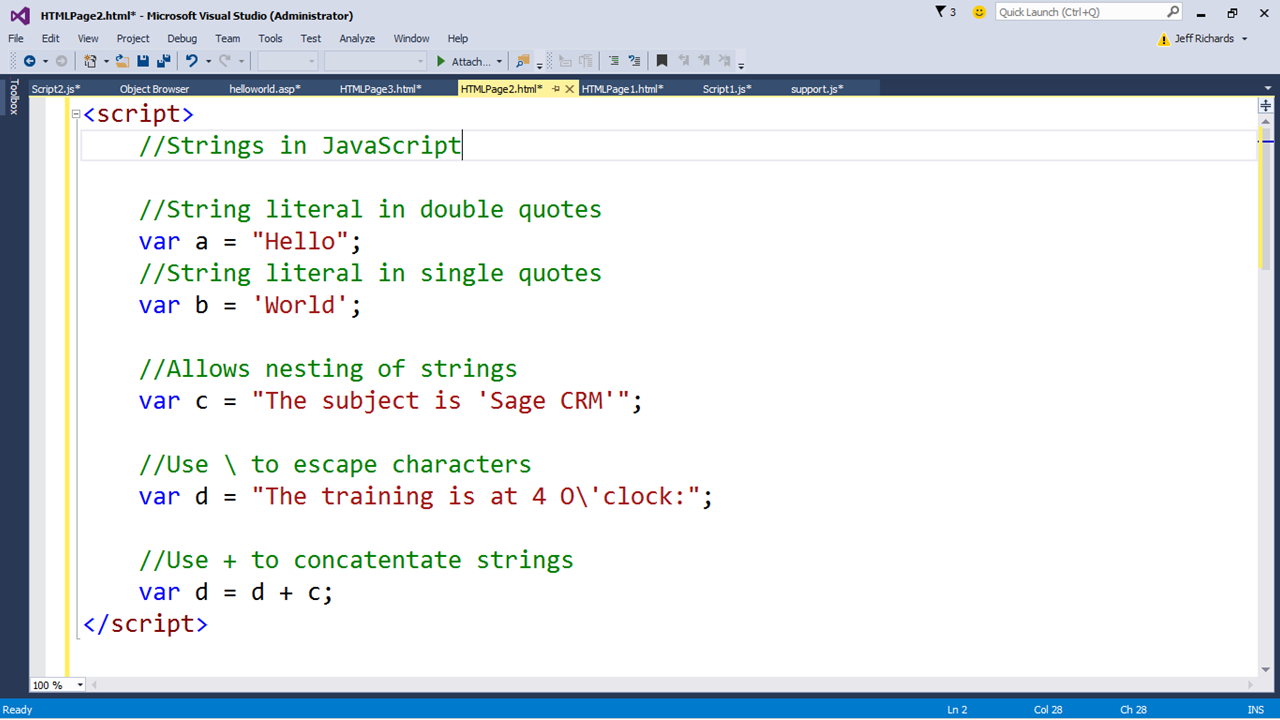 An Introduction to JavaScript in Sage CRM (Part 9) - Hints, Tips and