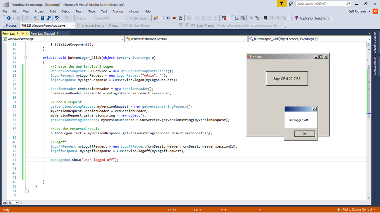 Using SOAP Web Services in Visual Studio  Add Service