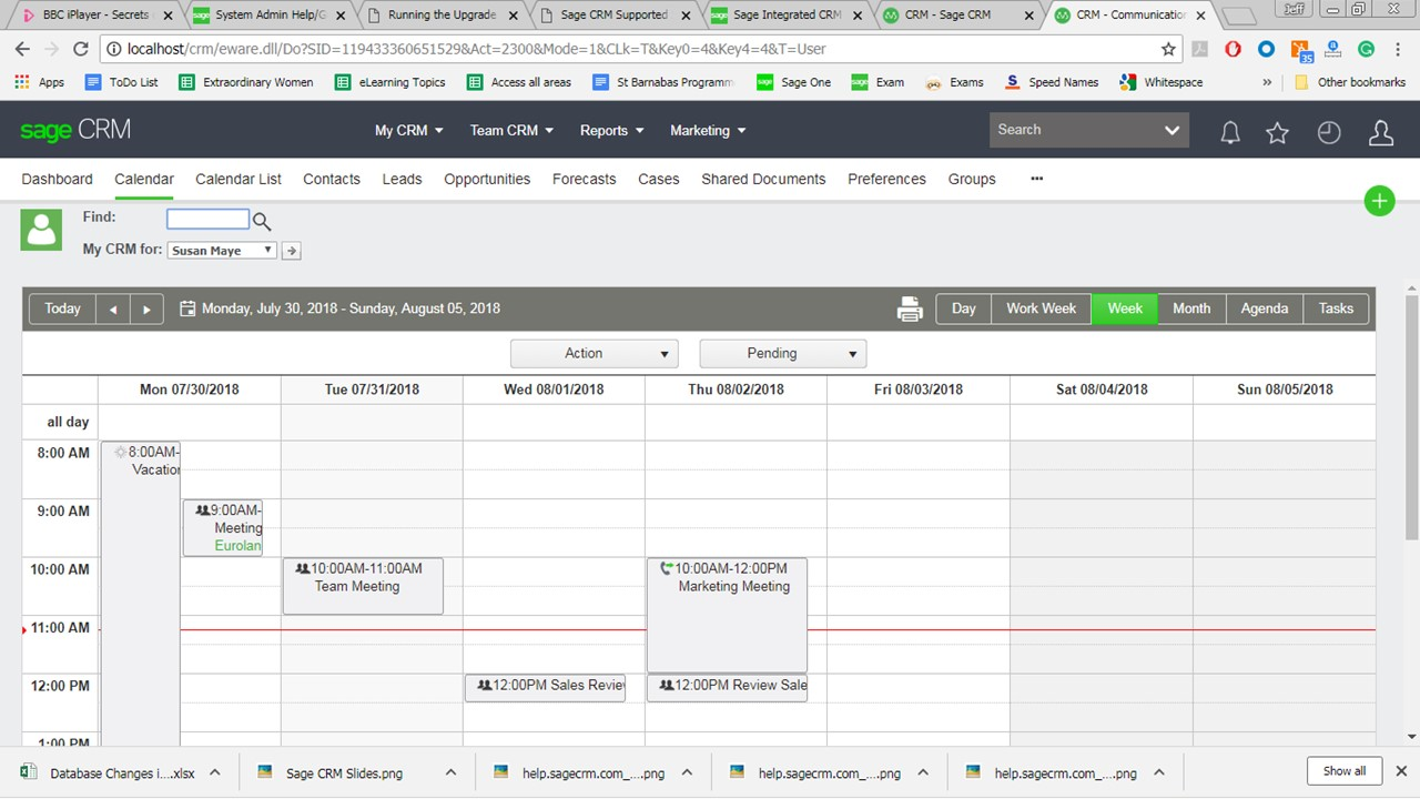 sage crm 2018 r3 create a quick appointment for another user the