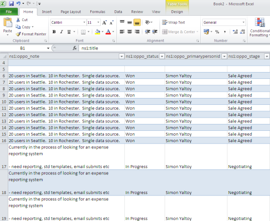 Sage CRM v7.1: Using SData to Extract Data into Excel - Hints ...