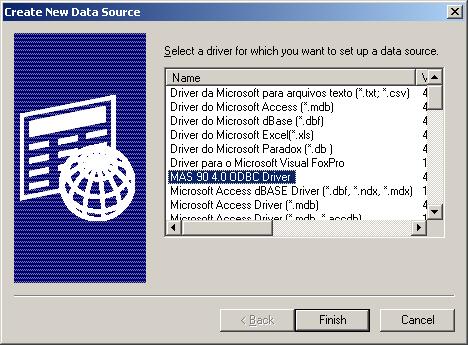 DRIVERS UPDATE: MAS 90 4.0 ODBC