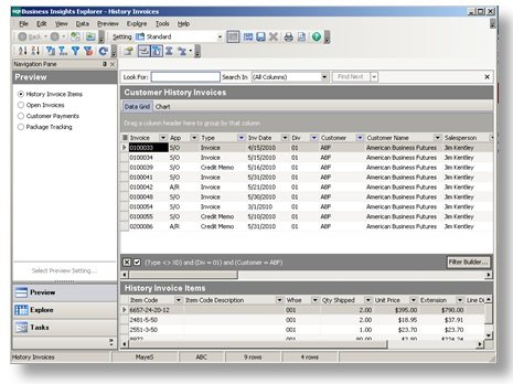Invoice Finance Definition Pdf Add Company Summary Buttons Component For Sagecrm  Sp And Sage  Target Return Policy With Receipt Word with What Does Proforma Mean On An Invoice Word For Example If You Click On The History Invoice View Button For A Customer  You Will See The Business Insights Explorer View Of The Invoice History For  The  San Francisco Gross Receipts Tax