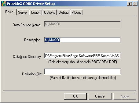 Connecting to an External ODBC database e g  Sage 100cloud - Hints