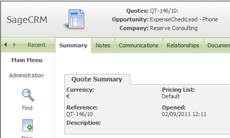 formatting your quote and order reference numbers in sage crm the