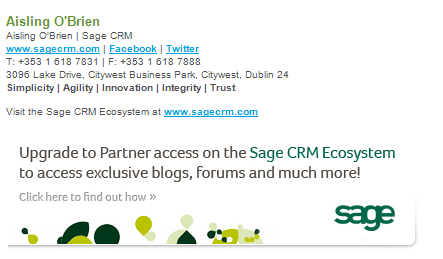 Setting up e mail signatures the sage crm blog user community e mail templates are created from within the administration section of the application to access this area you must have administrator rights or be an fbccfo